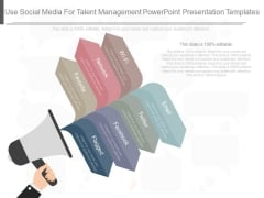 Use Social Media For Talent Management Powerpoint Presentation Templates