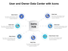 User And Owner Data Center With Icons Ppt PowerPoint Presentation Layouts Diagrams PDF