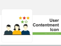 User Contentment Icon Employee Reviews Ppt PowerPoint Presentation Complete Deck