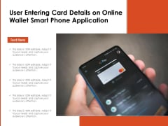 User Entering Card Details On Online Wallet Smart Phone Application Ppt PowerPoint Presentation Summary Files PDF