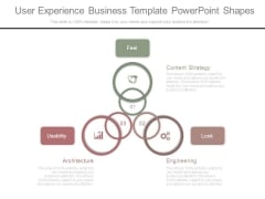 User Experience Business Template Powerpoint Shapes