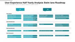 User Experience Half Yearly Analysis Swim Lane Roadmap Clipart