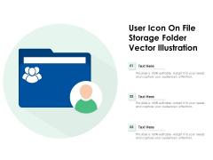 User Icon On File Storage Folder Vector Illustration Ppt PowerPoint Presentation Gallery Topics PDF