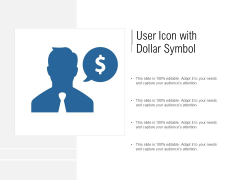 User Icon With Dollar Symbol Ppt PowerPoint Presentation Show Guide