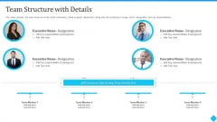 User Onboarding Process Development Team Structure With Details Demonstration PDF