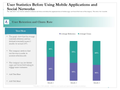 User Statistics Before Using Mobile Applications And Social Networks Ppt Summary Infographic Template PDF