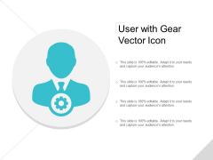User With Gear Vector Icon Ppt PowerPoint Presentation Summary Model