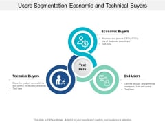 Users Segmentation Economic And Technical Buyers Ppt Powerpoint Presentation Outline Portrait