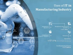 Uses Of IT In Manufacturing Industry Ppt PowerPoint Presentation Pictures Display