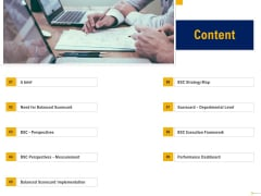 Using Balanced Scorecard Strategy Maps Drive Performance Content Ppt Portfolio Slideshow PDF