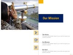 Using Balanced Scorecard Strategy Maps Drive Performance Our Mission Ppt Show Example PDF