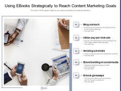 Using Ebooks Strategically To Reach Content Marketing Goals Ppt PowerPoint Presentation Professional Deck PDF