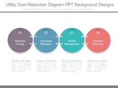 Utility Cost Reduction Diagram Ppt Background Designs