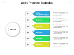 Utility Program Examples Ppt PowerPoint Presentation Professional Inspiration Cpb