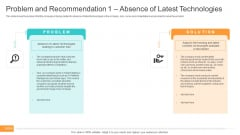 Utilization Of Current Techniques To Improve Efficiency Case Competition Problem And Recommendation 1 Absence Of Latest Technologies Rules PDF
