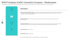 Utilization Of Current Techniques To Improve Efficiency Case Competition SWOT Analysis Of ADC Cosmetics Company Weaknesses Sample PDF