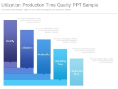 Utilization Production Time Quality Ppt Sample