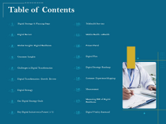 Utilizing Cyber Technology For Change Process Table Of Contents Introduction PDF