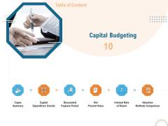Utilizing Infrastructure Management Using Latest Methods Capital Budgeting Structure PDF