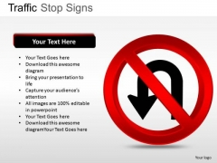 U Turn Traffic Stop PowerPoint Slides And Ppt Diagram Templates