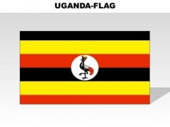 Uganda Country PowerPoint Flags