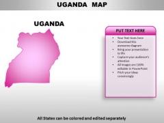 Uganda PowerPoint Maps