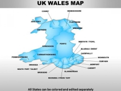 Uk Wales Country PowerPoint Maps
