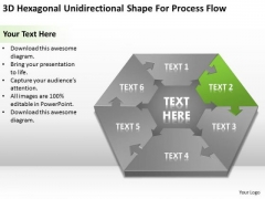 Unidirectional Shape For Process Flow Small Business Plan Template Free PowerPoint Templates