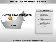 United Arab Emirates Country PowerPoint Maps