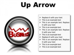 Up Arrow Business PowerPoint Presentation Slides Cc