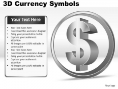 Us Dollar 3d Currency Symbol PowerPoint Slides And Ppt Diagram Templates