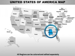 Usa Alabama State PowerPoint Maps