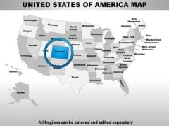 Usa Colorado State PowerPoint Maps