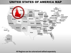 Usa Idaho State PowerPoint Maps