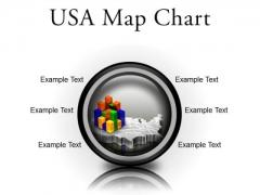 Usa Map Chart Americana PowerPoint Presentation Slides Cc