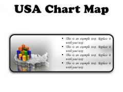 Usa Map Chart Americana PowerPoint Presentation Slides R