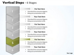 Usa PowerPoint Template Vertical Steps 6 1 Project Management Ppt Image