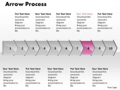 Usa Ppt Arrow Forging Process PowerPoint Slides 10 Stages Business Plan 9 Image