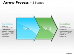 Usa Ppt Arrow Forging Process PowerPoint Slides 2 Stages Business Plan 1 Image