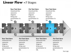Usa Ppt Background Linear Flow 7 Stages Style1 Communication Skills PowerPoint Design