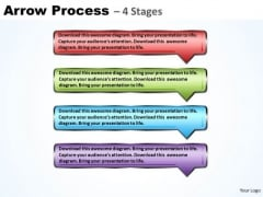 Usa Ppt Background Logical Model Using 4 Rectangular Arrows 1 Graphic