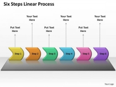 Usa Ppt Background Six Practice The PowerPoint Macro Steps Linear Process 1 Graphic