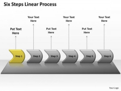 Usa Ppt Background Six Practice The PowerPoint Macro Steps Linear Process 2 Graphic