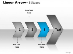 Usa Ppt Template Arrow Demonstration Of 3 Steps Project Management PowerPoint 4 Graphic
