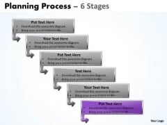 Usa Ppt Template Organizable Process 6 Steps Working With Slide Numbers 7 Graphic
