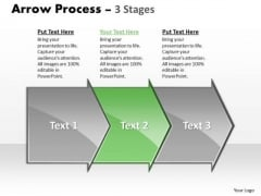 Usa Ppt Theme Arrow Process 3 Phase Diagram Project Management PowerPoint Image