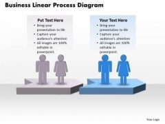Usa Ppt Theme Business PowerPoint Linear Process Diagram Free 3 Design
