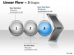 Usa Ppt Theme Horizontal Flow Of 3 Phase Diagram Communication Skills PowerPoint 4 Graphic