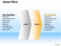 Usa Ppt Theme Linear Flow 2 Phase Diagram Business Communication PowerPoint 3 Image