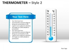 Use Thermometer Concept To Quantify Numbers PowerPoint Slides And Ppt Templates